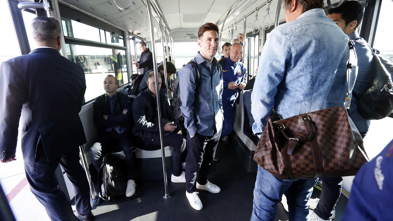 Messi, en el desplaçament a Madrid / MIGUEL RUIZ - FCB