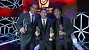 Bravo, Messi and Neymar Jr at LFP Gala / MIGUEL RUIZ-FCB