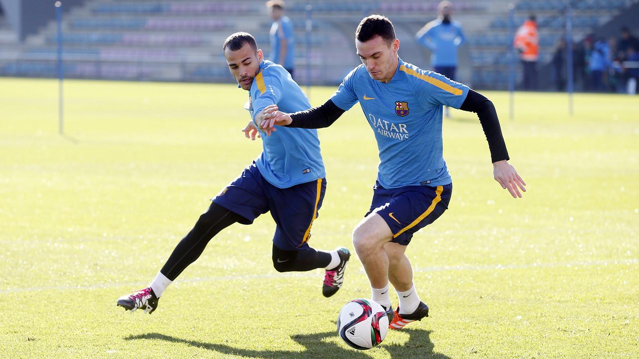 Sandro i Vermaelen, en l'entrenament de dilluns / MIGUEL RUIZ-FCB