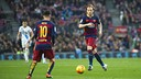 Ivan Rakitic scored Barça's second goal on Saturday but Deportivo came back late. / MIGUEL RUIZ