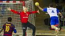 Saric, sota pals en el derbi contra el Granollers / VÍCTOR SALGADO - FCB