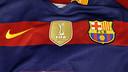 L'escut de campions del món, a la samarreta del Barça / MIGUEL RUIZ - FCB