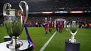 Barça present their five trophies to the Camp Nou / MIGUEL RUIZ - FCB