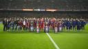 FC Barcelona present their five trophies to the Camp Nou faithful / VÍCTOR SALGADO - FCB