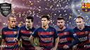 Neymar, Alves, Messi, Piqué et Iniesta, edans le onze de l'année / UEFA.COM