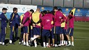 The squad during the Friday training session / MIGUEL RUIZ-FCB