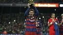 Messi presents his fifth FIFA Ballon d'Or to the fans at Camp Nou / MIGUEL RUIZ - FCB
