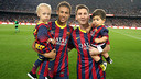 Neymar Jr and Leo Messi, seen here with their own sons, have had a huge influence on baby-naming trends around the world