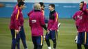Messi et Suárez, pendant un entrainement / MIGUEL RUIZ - FCB
