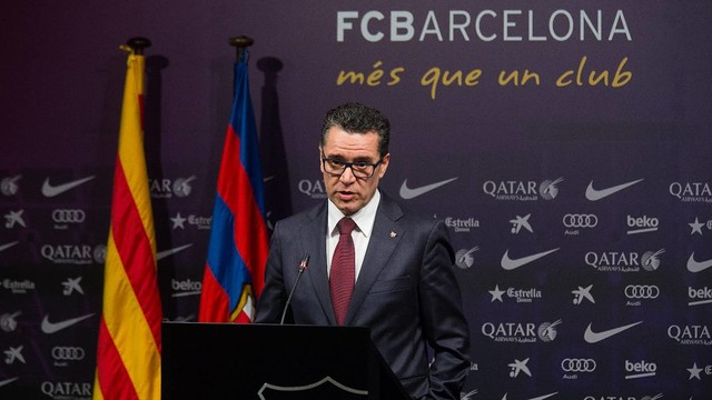 Josep Vives, Barça spokesman, in the press conference on Monday / GERMÁN PARGA-FCB