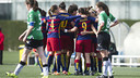 FC Barcelona Women celebrate one of their eight goals / VÍCTOR SALGADO - FCB