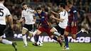 Leo Messi, en una acció del partit d'anada de les semifinals de la Copa del Rei contra el València / MIGUEL RUIZ - FCB
