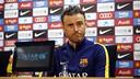 Luis Enrique, en conférence de presse, samedi / MIGUEL RUIZ - FCB