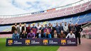 Representatives of FC Barcelona and the ABJ at the presentation of the project / GERMÁN PARGA / FCB