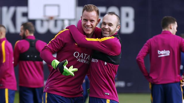 Dernier tour de chauffe avant le match de Liga face au Celta pour le FC Barcelone