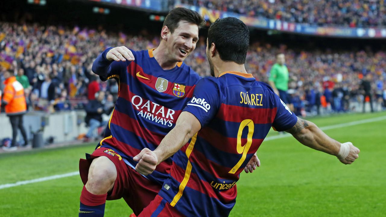 Messi i Luis Suárez celebren un gol al Camp Nou / MIGUEL RUIZ - FCB