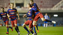 Barça B celebrating a goal this season / VÍCTOR SALGADO - FCB
