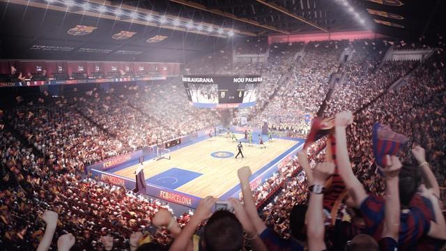 Simulation of the New Palau Blaugrana during a basketball match / FCB