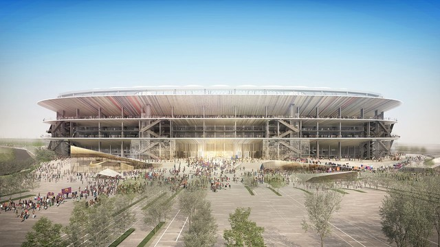 Front view of the New Camp Nou / FCB