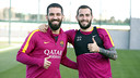 Arda Turan and Aleix Vidal are hoping to make their first Clásico appearances / MIGUEL RUIZ - FCB