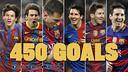 Messi reaches 450 goals