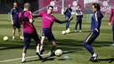 Les joueurs pendant un entrainement / MIGUEL RUIZ-FCB