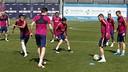 El equipo ya prepara el duelo de este miércoles en Riazor / MIGUEL RUIZ-FCB
