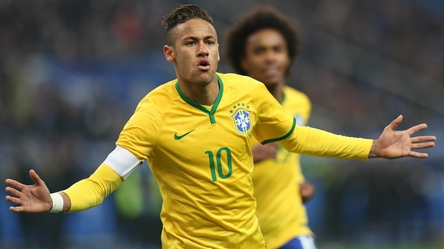 Neymar will be representing the host nation at the Olympics