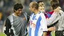 Abelardo conversa amb Roberto Bonano / MIGUEL RUIZ - FCB