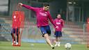 Luis Suárez à l'entraînement cette semaine / MIGUEL RUIZ - FCB
