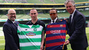 Monday's presentation was held at Aviva Stadium in Dublin, Ireland. / CELTIC