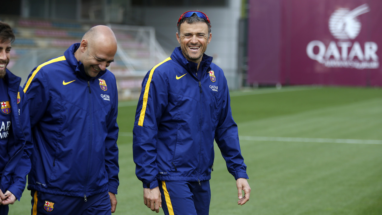 Luis Enrique is expected to announce the squad list for Betis on Saturday morning. / MIGUEL RUIZ - FCB