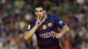 Luis Suárez celebra el gol contra el Betis / MIGUEL RUIZ - FCB