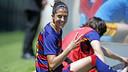 Jenni delighted after getting three against Espanyol / MIGUEL RUIZ-FCB
