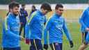 Xemi y Dani Romera, en un entrenamiento en la Ciudad Deportiva / ARCHIVO FCB
