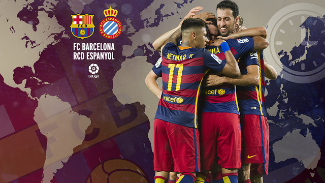 International timetable for Barça-Espanyol / FCB