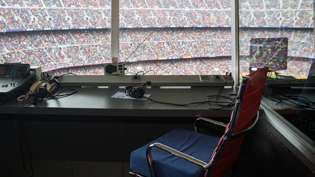 Manel Vich's seat empty during the derby / GERMÁN PARGA-FCB