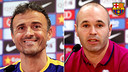 Luis Enrique and Iniesta press conference / FCB