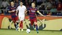 Andrés Iniesta against Sevilla in the European Super Cup / MIGUEL RUIZ - FCB