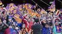 L'afició blaugrana al Calderón