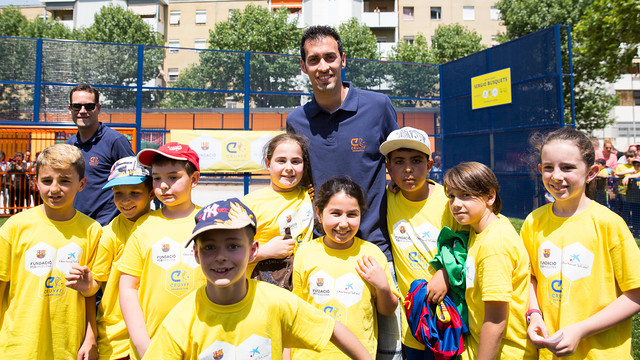 Sergio Busquets at an event on Friday for the Cruyff Foundation / GERMÁN PARGA - FCB