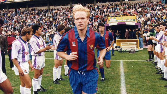 Ronald Koeman was part of the Dutch squad in 1988 and 1992 / FCB ARCHIVE