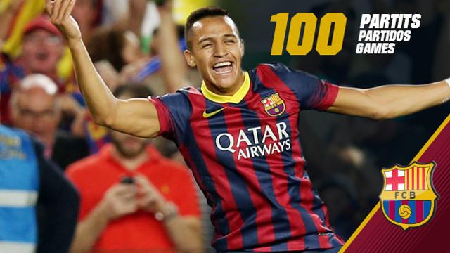Alexis ha llegado a los 100 partidos como azulgrana